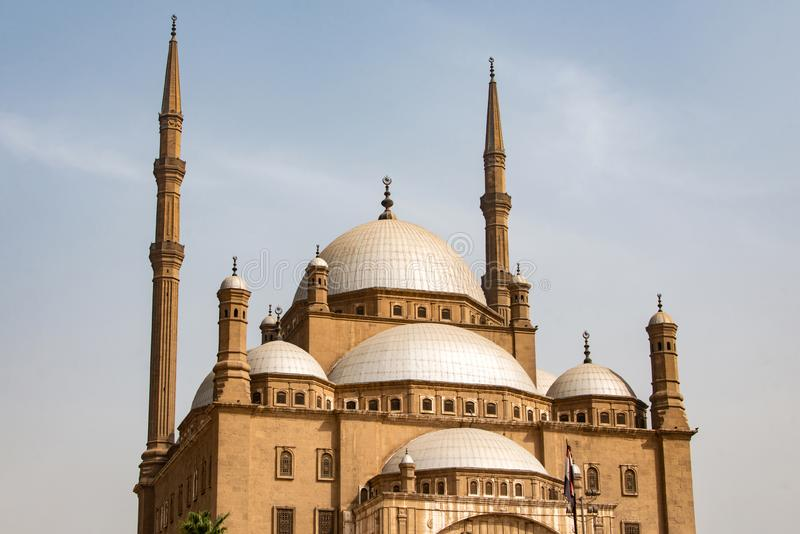 Grand Muhammad Ali Alabaster Mosque Citadel du Caire, Egypte images libres de droits