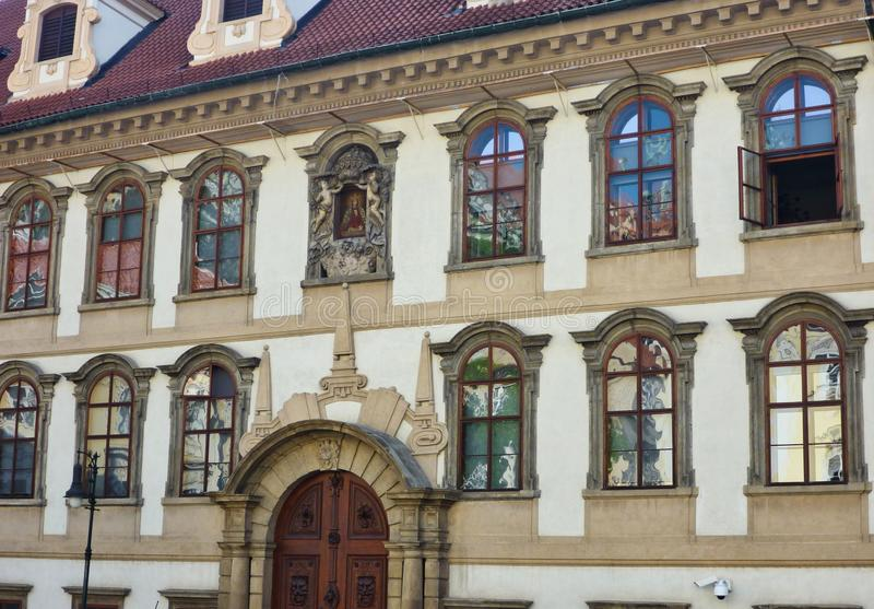 Historic Building, Central Old Prague, Czech Republic royalty free stock photo