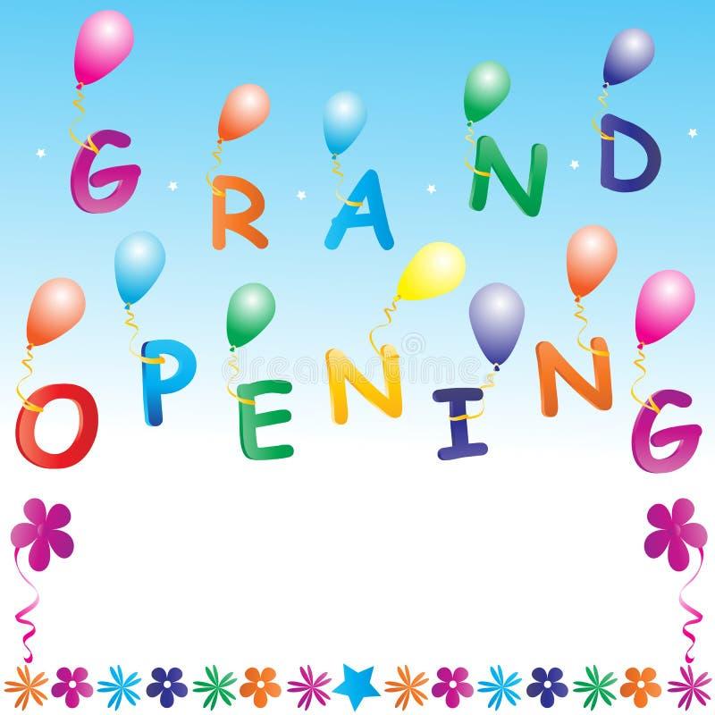 Grand opening. Illustration of grand opening invitation royalty free illustration