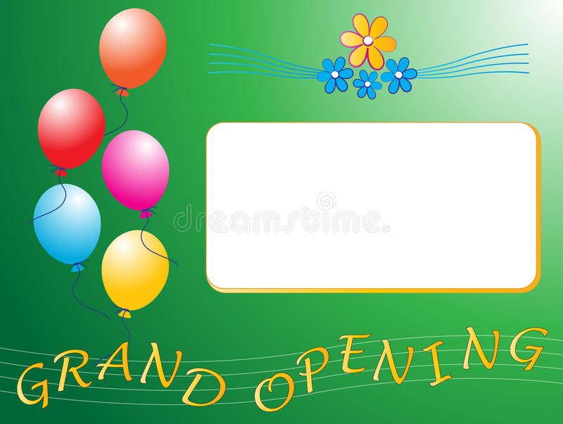 Grand opening. Illustration of grand opening invitation vector illustration