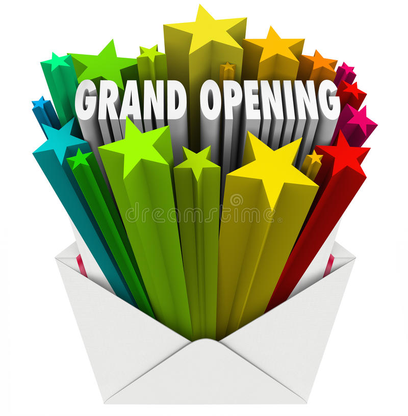 Download Grand Opening Announcement Letter Envelope Flyer Stock Illustration - Image: 35971658
