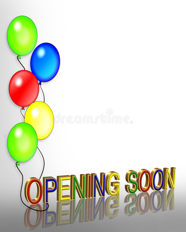 Grand Opening Balloons 3D stock illustration