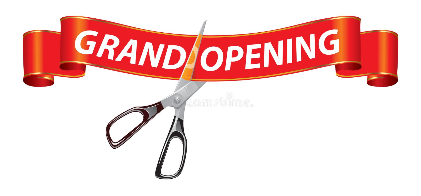 grand opening banner stock vector illustration of ribbon 10540289 rh dreamstime com grand opening invitation clip art grand opening banner clip art