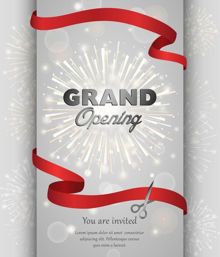 Grand opening banner design vector illustration vector illustration