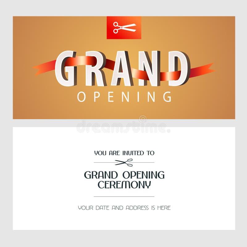 Grand opening banner with elegant background vector illustration