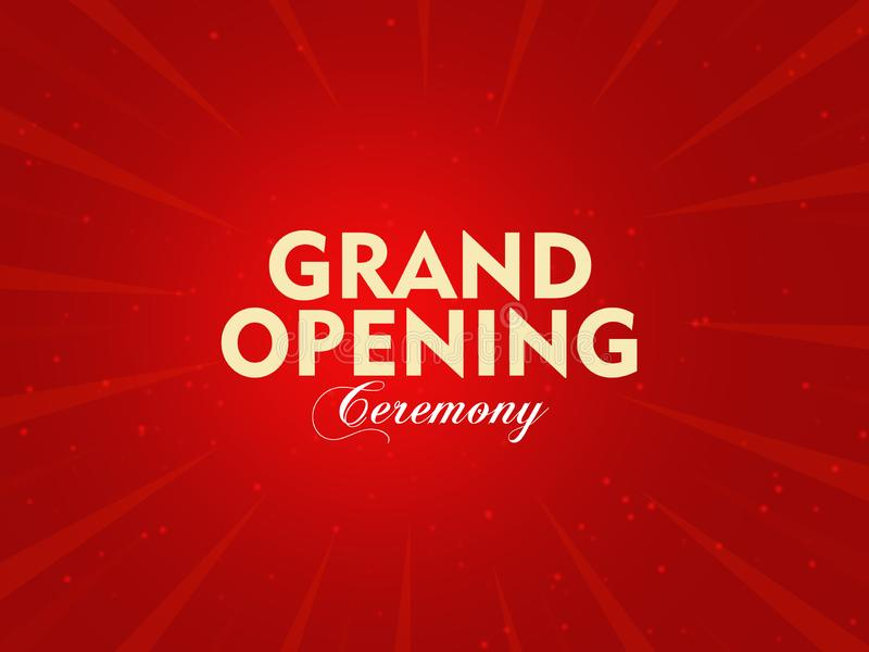 Grand opening ceremony, isolated on red abstract background illustration vector illustration