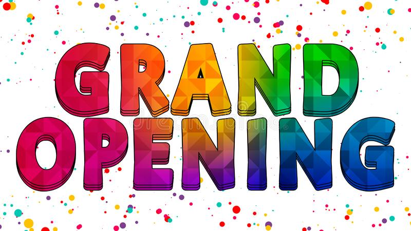 Grand Opening Colorful Graphic Design 005. High Resolution - Colorful Background vector illustration