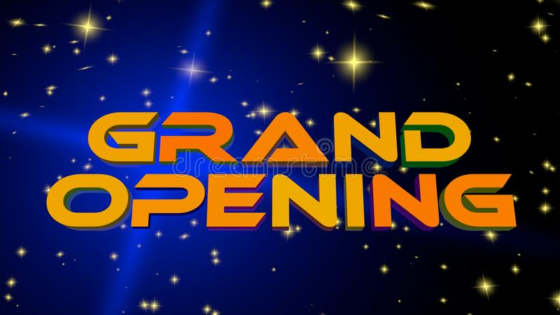 Grand Opening royalty free illustration