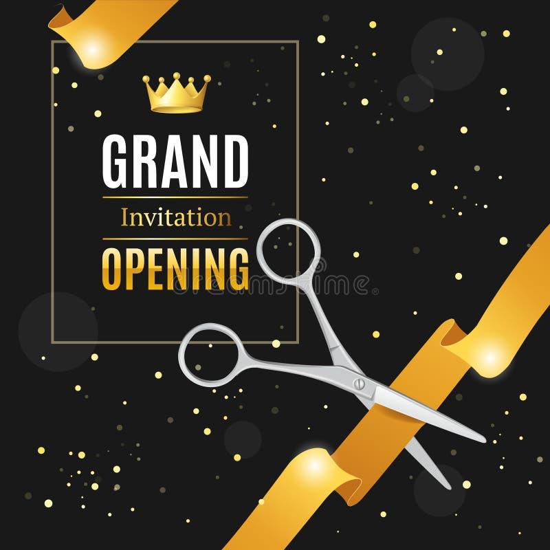grand opening invitation card  vector stock vector