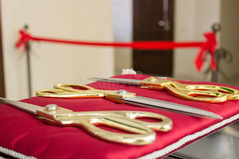 The grand opening of the new building stock photography