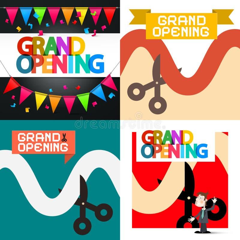 Grand Opening. Vector Designs Set vector illustration