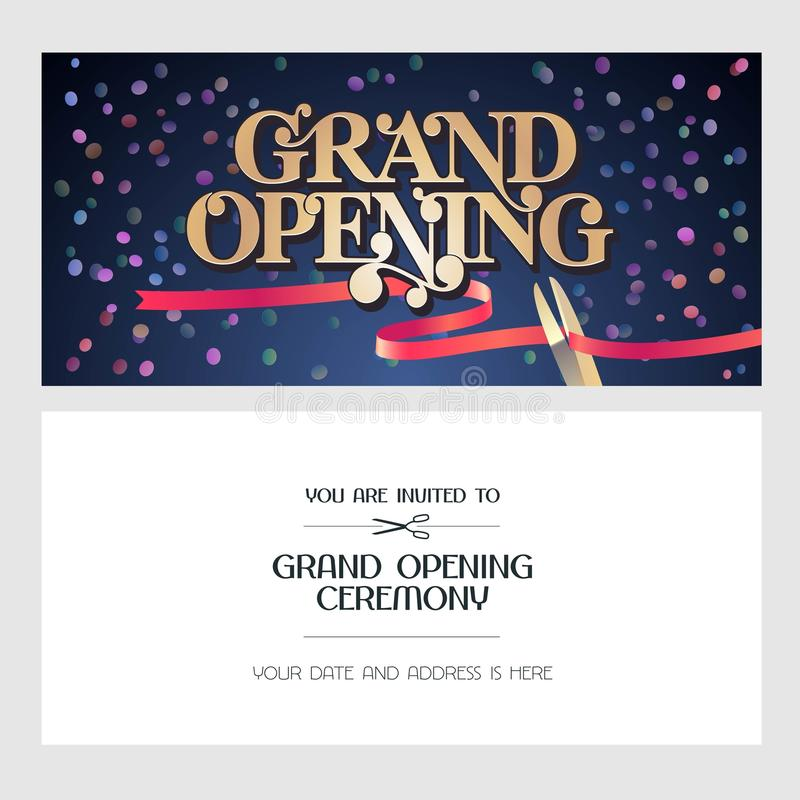Grand opening vector illustration background invitation card stock download grand opening vector illustration background invitation card stock vector illustration of banner stopboris Image collections