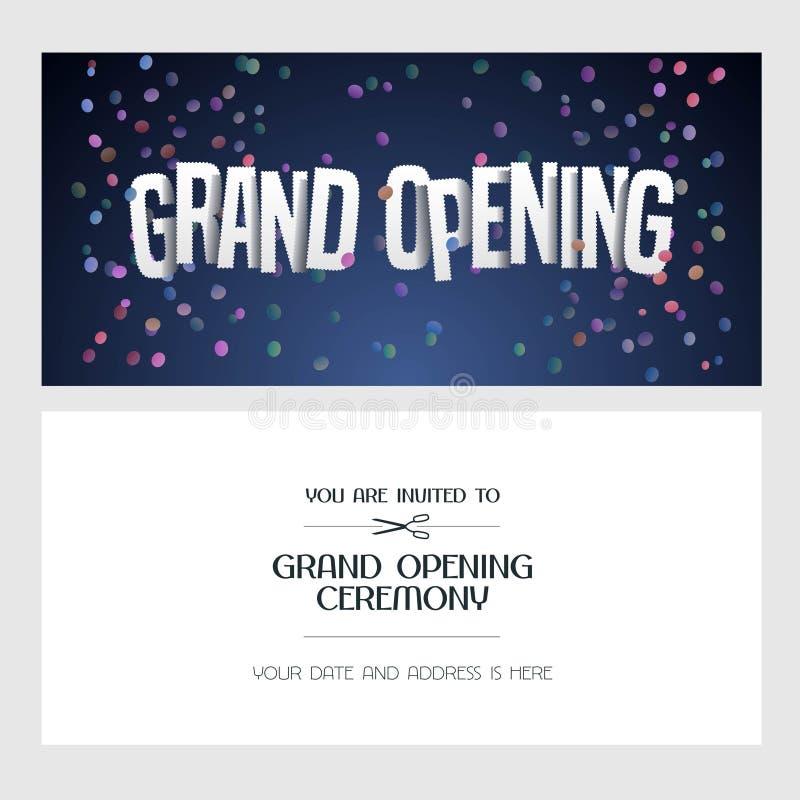 Grand opening vector illustration invitation card stock vector download grand opening vector illustration invitation card stock vector illustration of festive beginning stopboris Choice Image