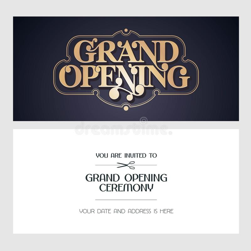 Download Grand Opening Vector Illustration, Invitation Card For New Store  Stock Vector   Illustration Of