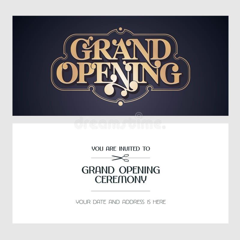Grand opening vector illustration invitation card for new store download grand opening vector illustration invitation card for new store stock vector illustration of stopboris Choice Image