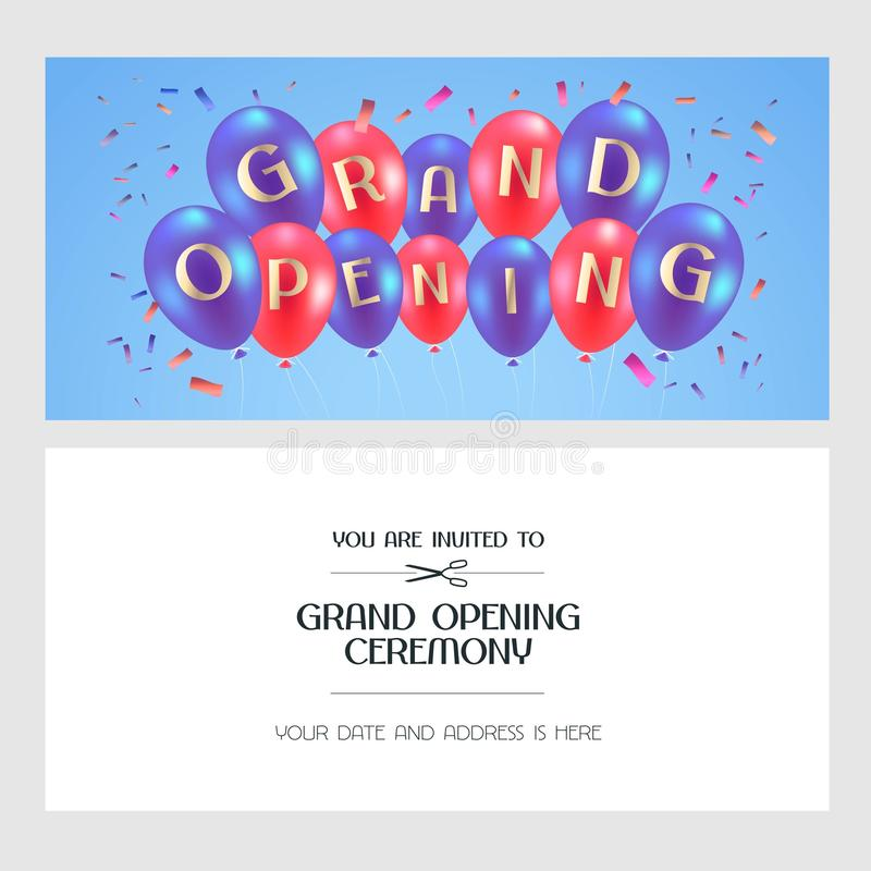 Download Grand Opening Vector Illustration Invitation Card Stock