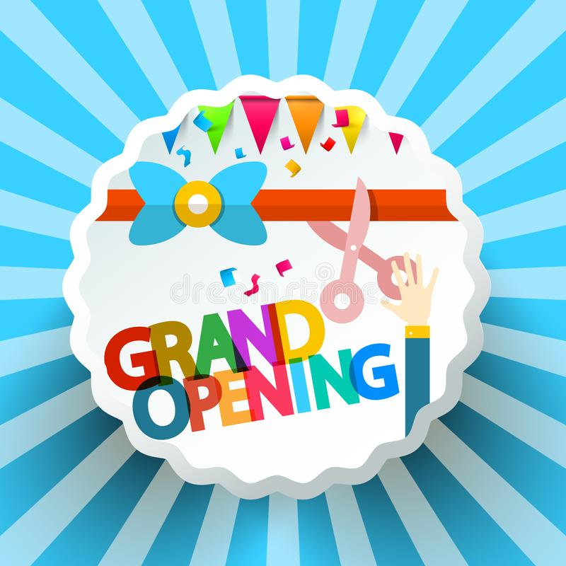 Grand Opening Vector Retro Label vector illustration