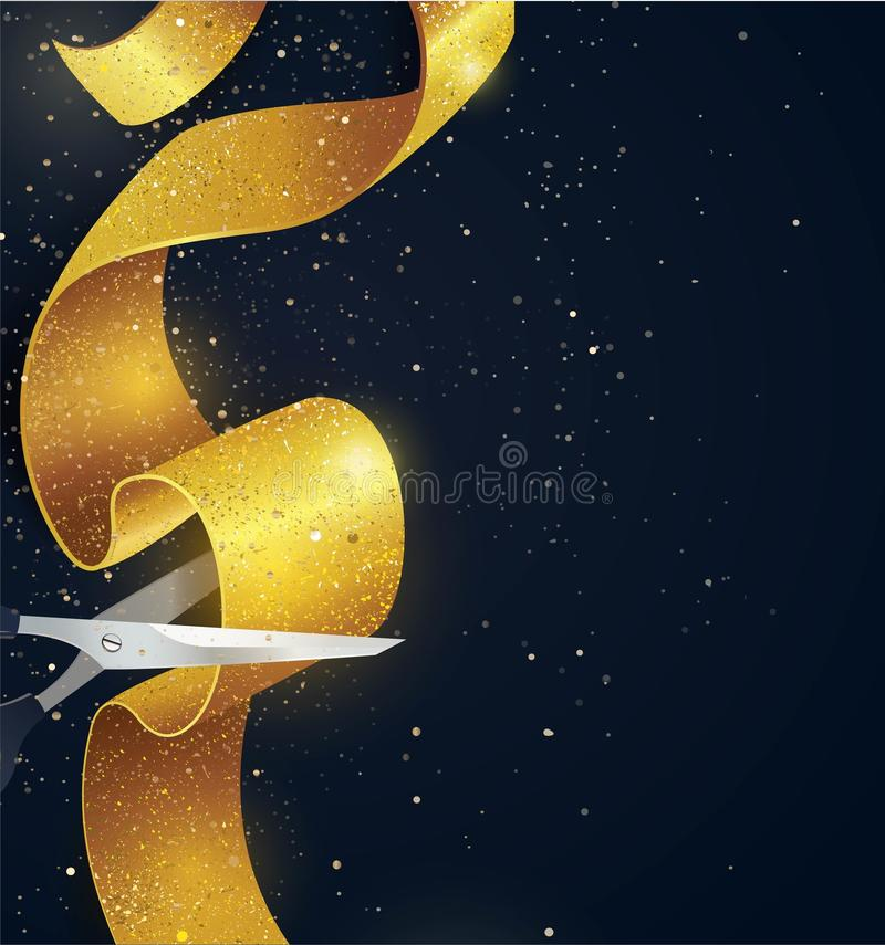 Grand opening vertical banner. royalty free illustration