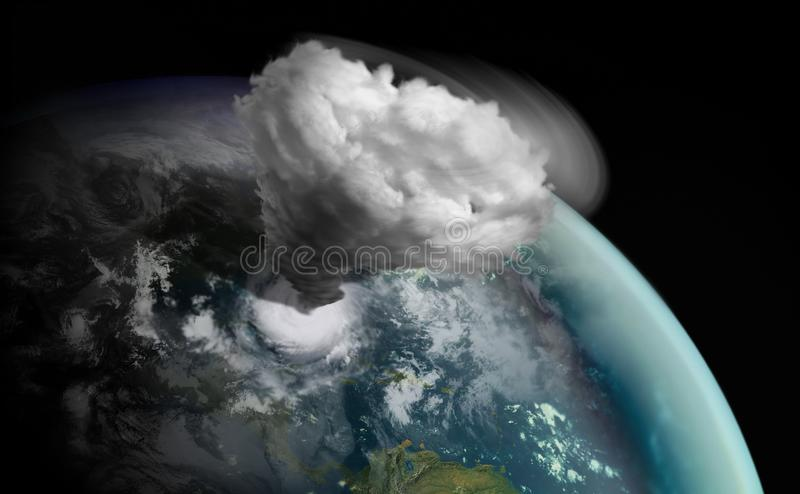grand grand ouragan sur le monde images libres de droits