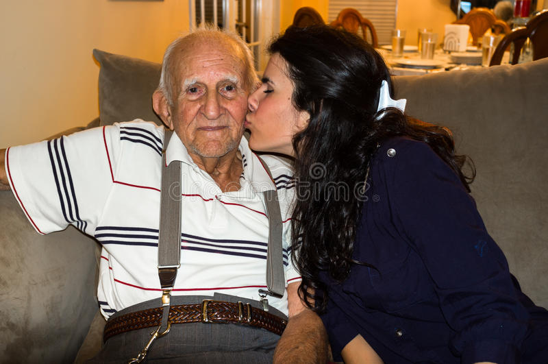 Grand-père et petite-fille photos stock