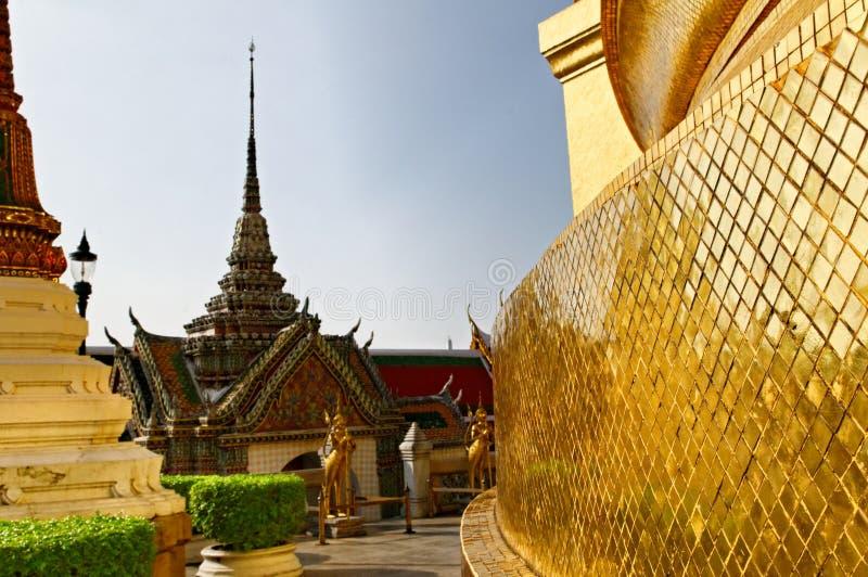Grand Palace in Bangkok. Phra Borom Maha Ratcha Wang, the Grand palace in Bangkok, Thailand royalty free stock photography
