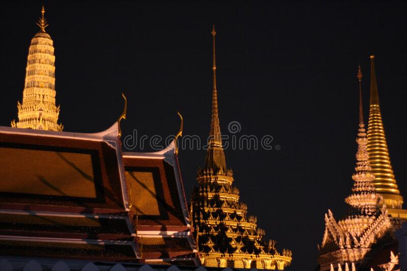 The grand palace Bangkok Thailand. City Scape The grand palace Bangkok Thailand royalty free stock images