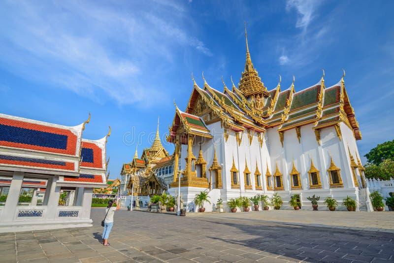 Grand palace - Bangkok - Thailand. Tourist at grand palace at Bangkok, Thailand stock image