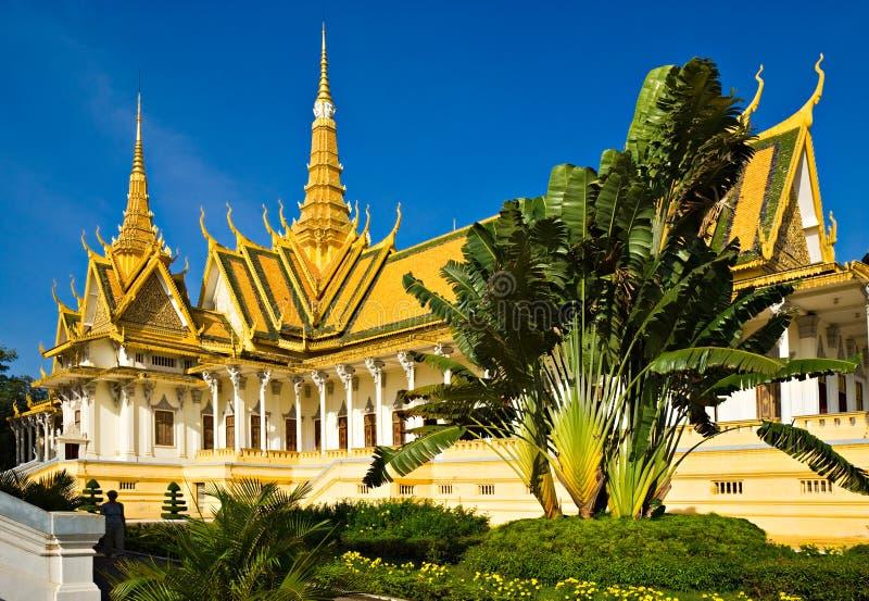 Grand palace, Cambodia. stock photo