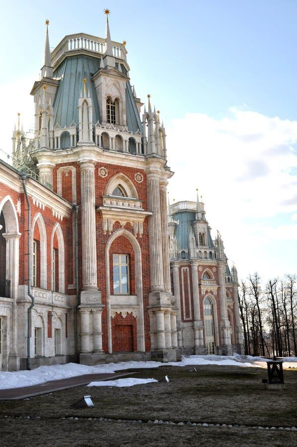 Grand palace in Tsaritsyno stock image