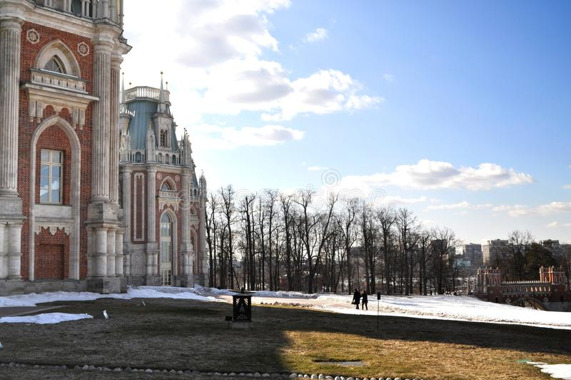 Grand palace in Tsaritsyno royalty free stock photography
