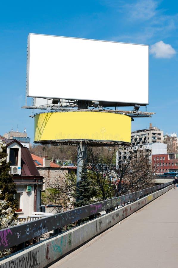 Grand panneau d'affichage photo stock