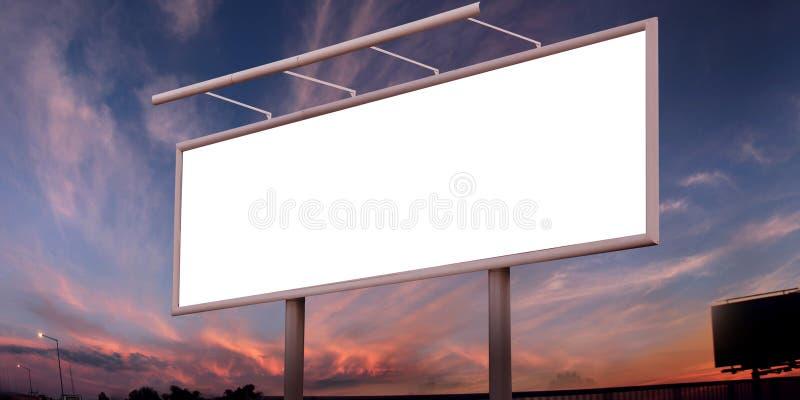 Grand panneau-réclame blanc photo libre de droits