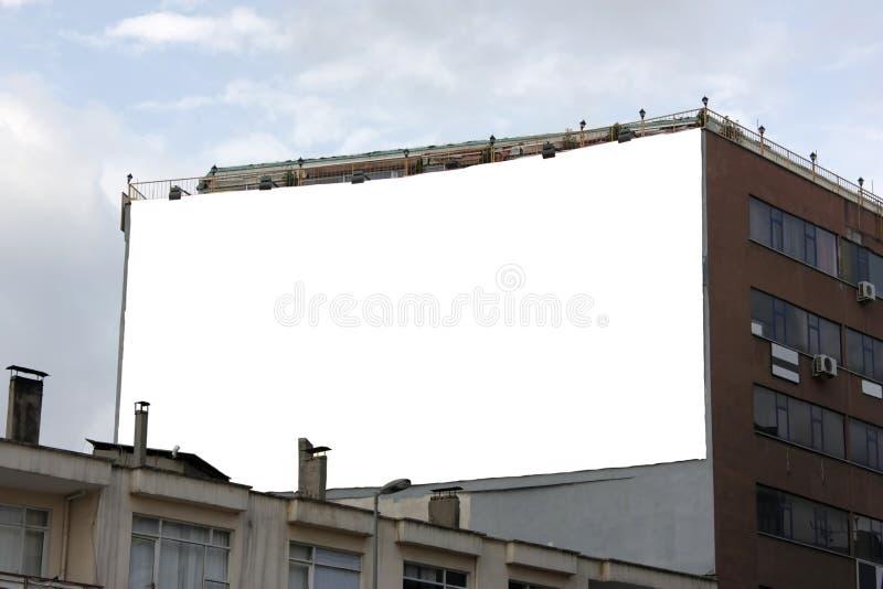 Grand panneau-réclame horizontal blanc de Wallscape - Includi image stock