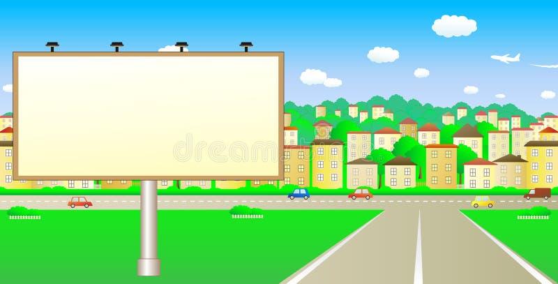 Grand panneau sur la route illustration libre de droits
