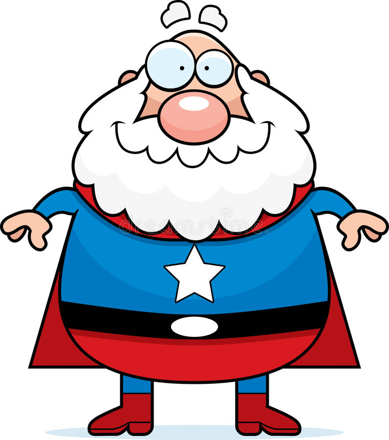 Grand-papa de Superhero illustration stock