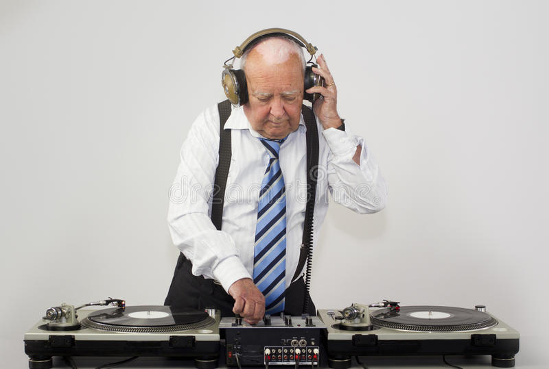 Grand-papa DJ photo libre de droits