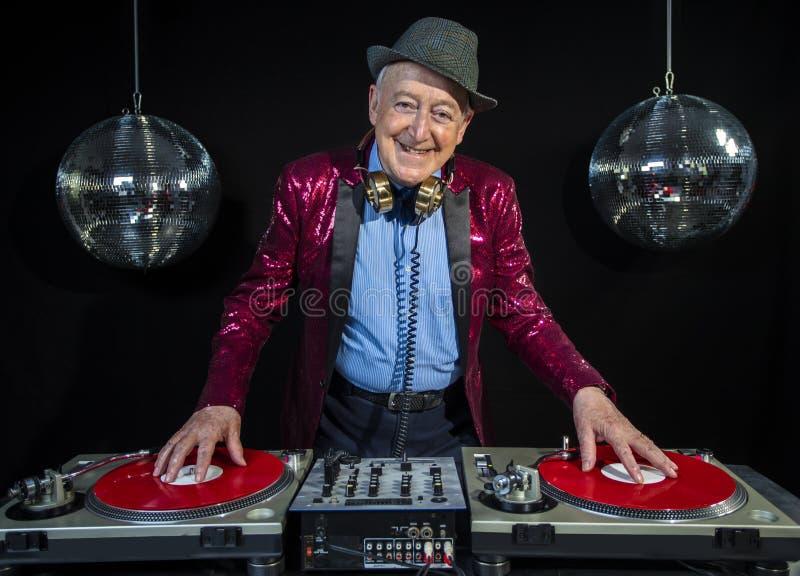 Grand-papa du DJ image stock