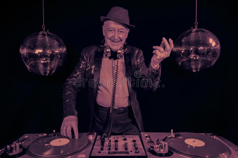 Grand-papa du DJ image libre de droits