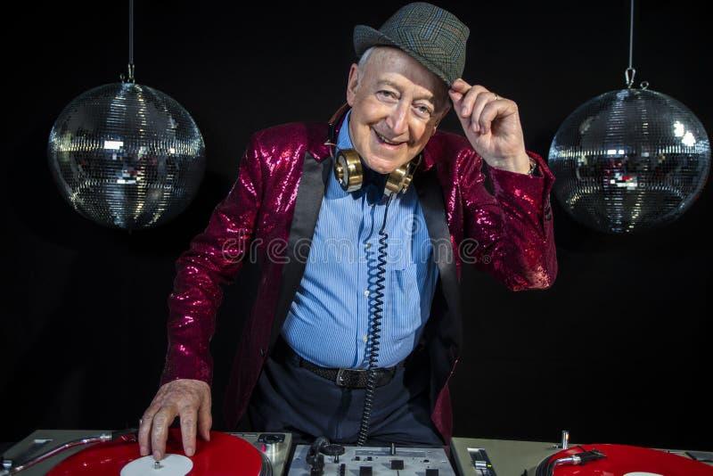 Grand-papa du DJ photos stock