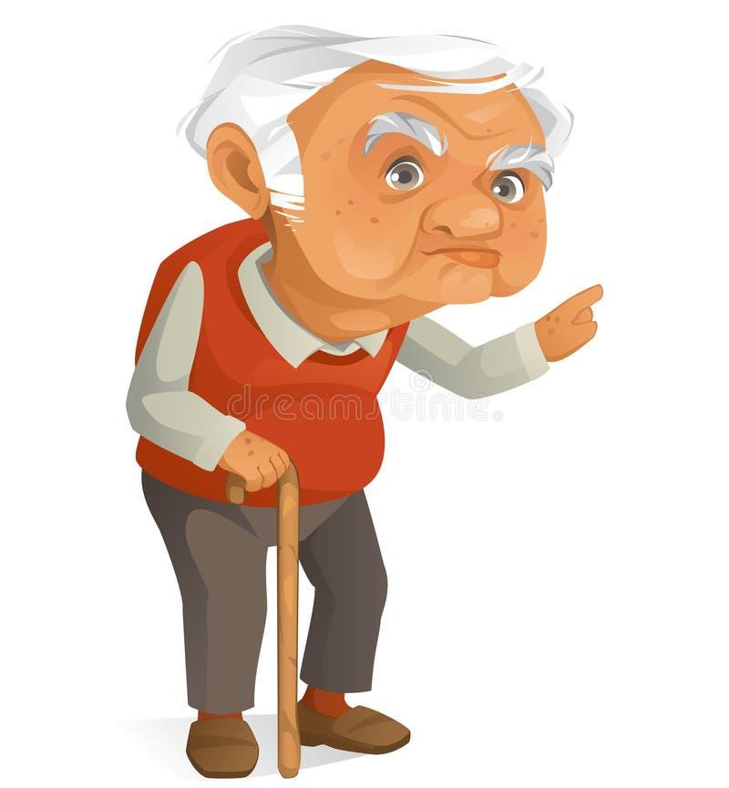 Grand-papa mignon illustration stock