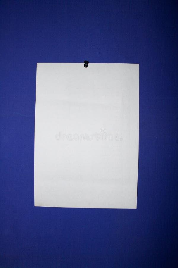 Grand papier vide pour l'annonce photographie stock libre de droits