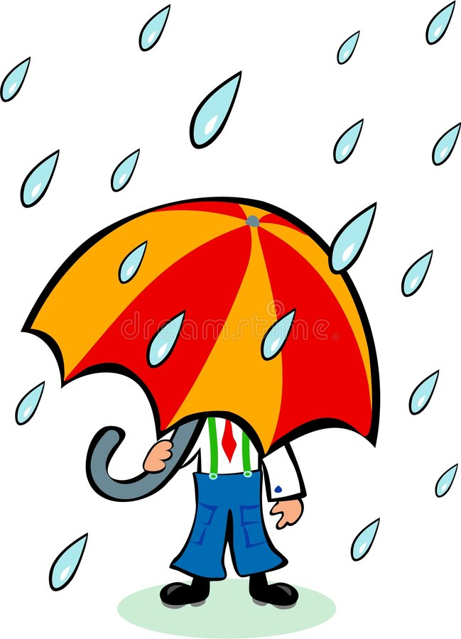 Grand parapluie illustration stock