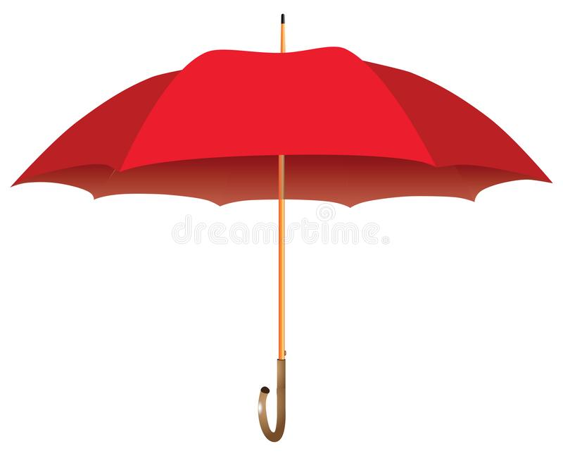 Grand parapluie rouge illustration libre de droits