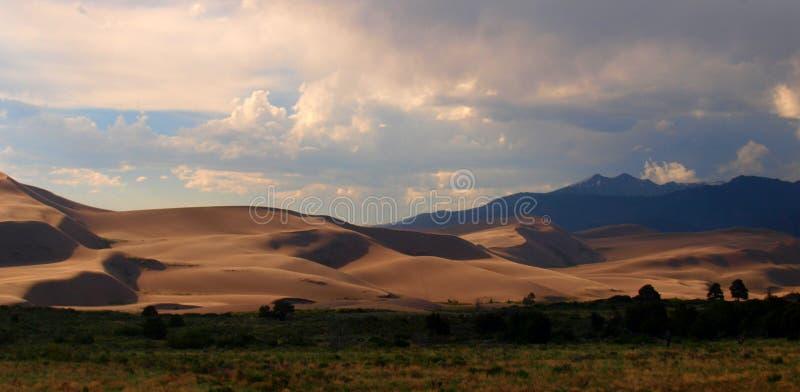 Grand parc national de dunes de sable images libres de droits