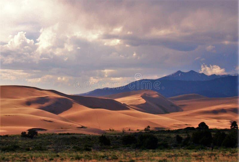 Grand parc national de dunes de sable image stock