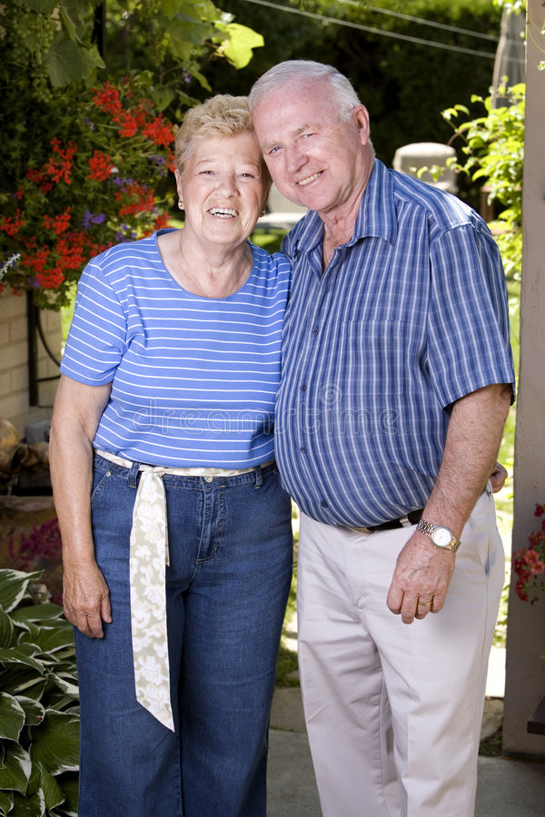 Grand parents stock image