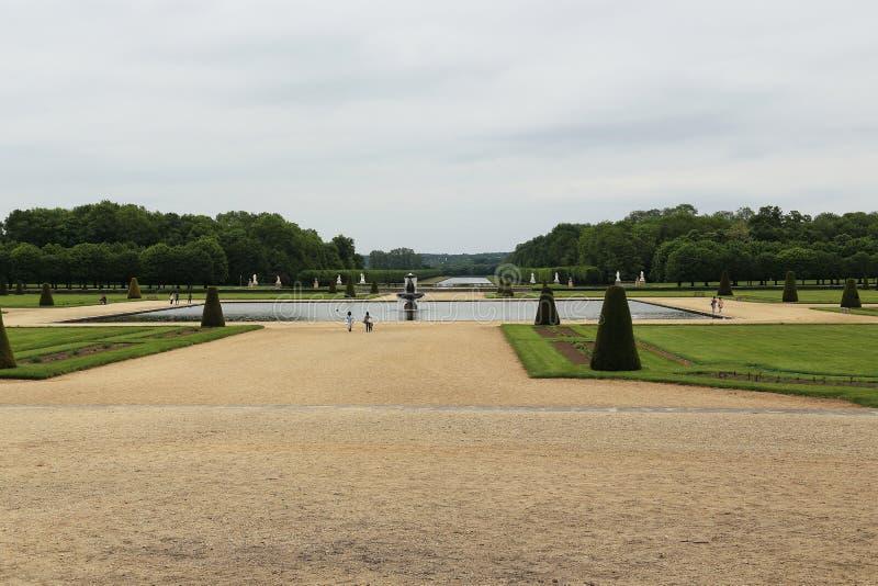 Grand Parterre de Fontainebleau photo libre de droits