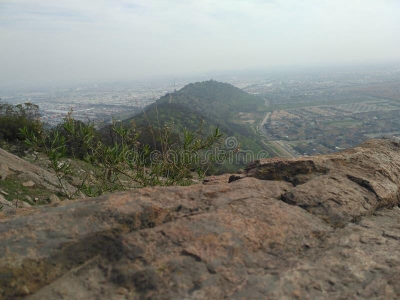 Grand paysage de colline, trekking photos stock