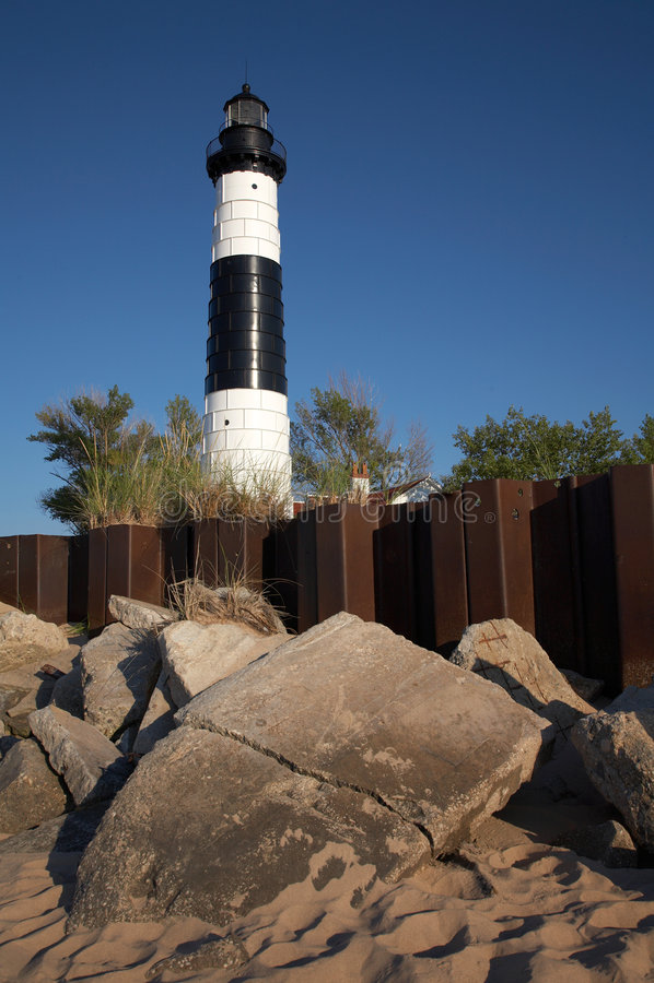 Grand phare de point de sable photos libres de droits