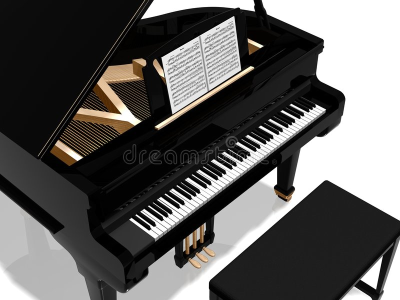 Grand piano vector illustration